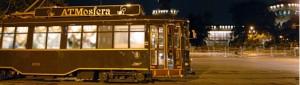 a cena sul tram